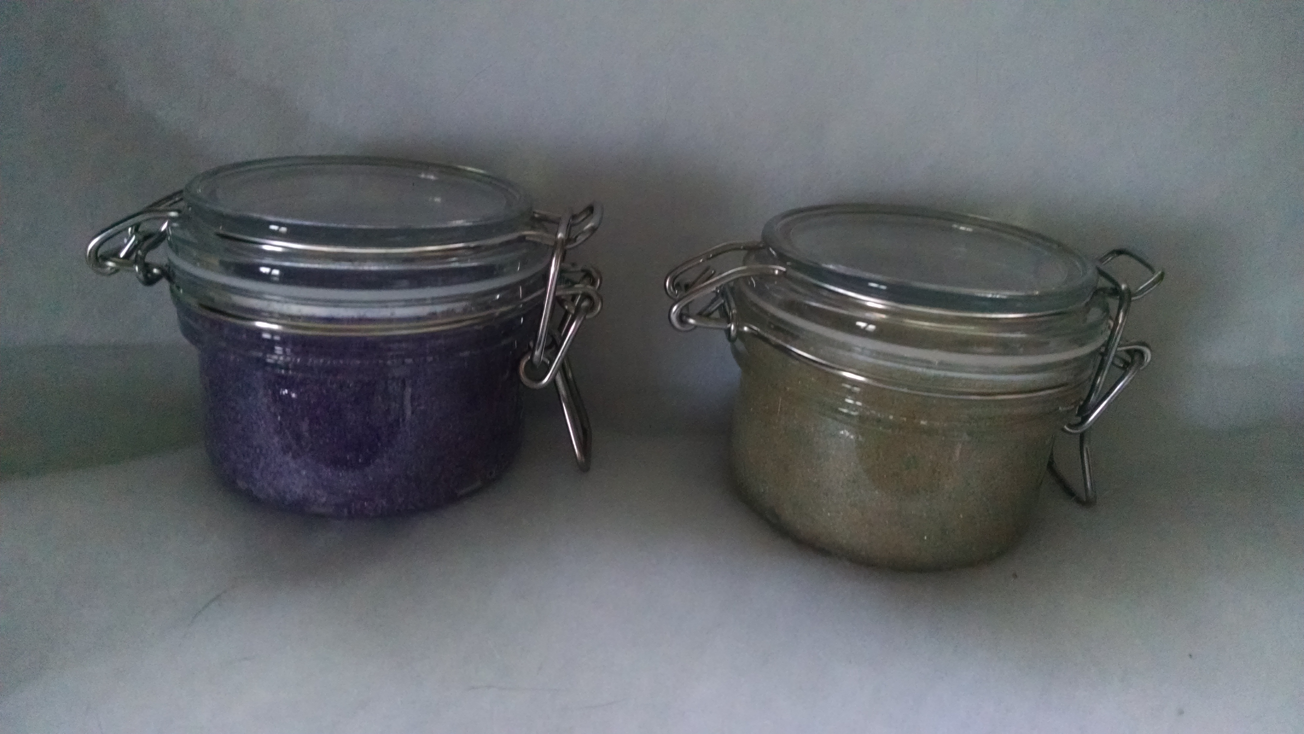Sugar scrubs turn your shower into a spa experience! The sugar is a mild exfoliant to gently remove dry skin, and the oils moisturize. Scrubs contain preservatives to prevent bacteria growth when water inevitably gets into the container while showering.  Directions: Scoop scrub with your fingers and gently rub over your skin. Rinse off and wash as normal.