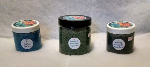To Use: Scoop out some scrub with your fingers and scrub over your skin. Keep tightly closed between uses.
